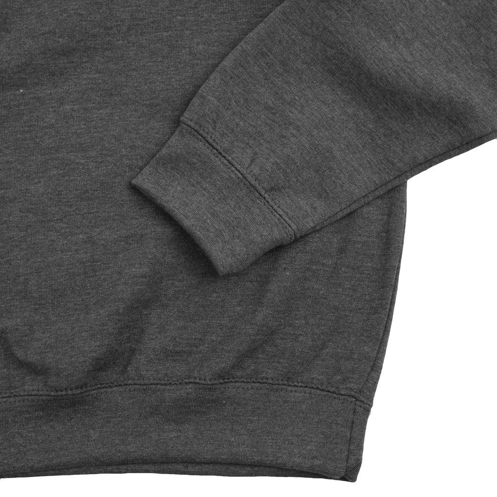 14:01 Skateboard Co Logo Quarter Zip Sweatshirt in Dark Grey Heather - Cuff