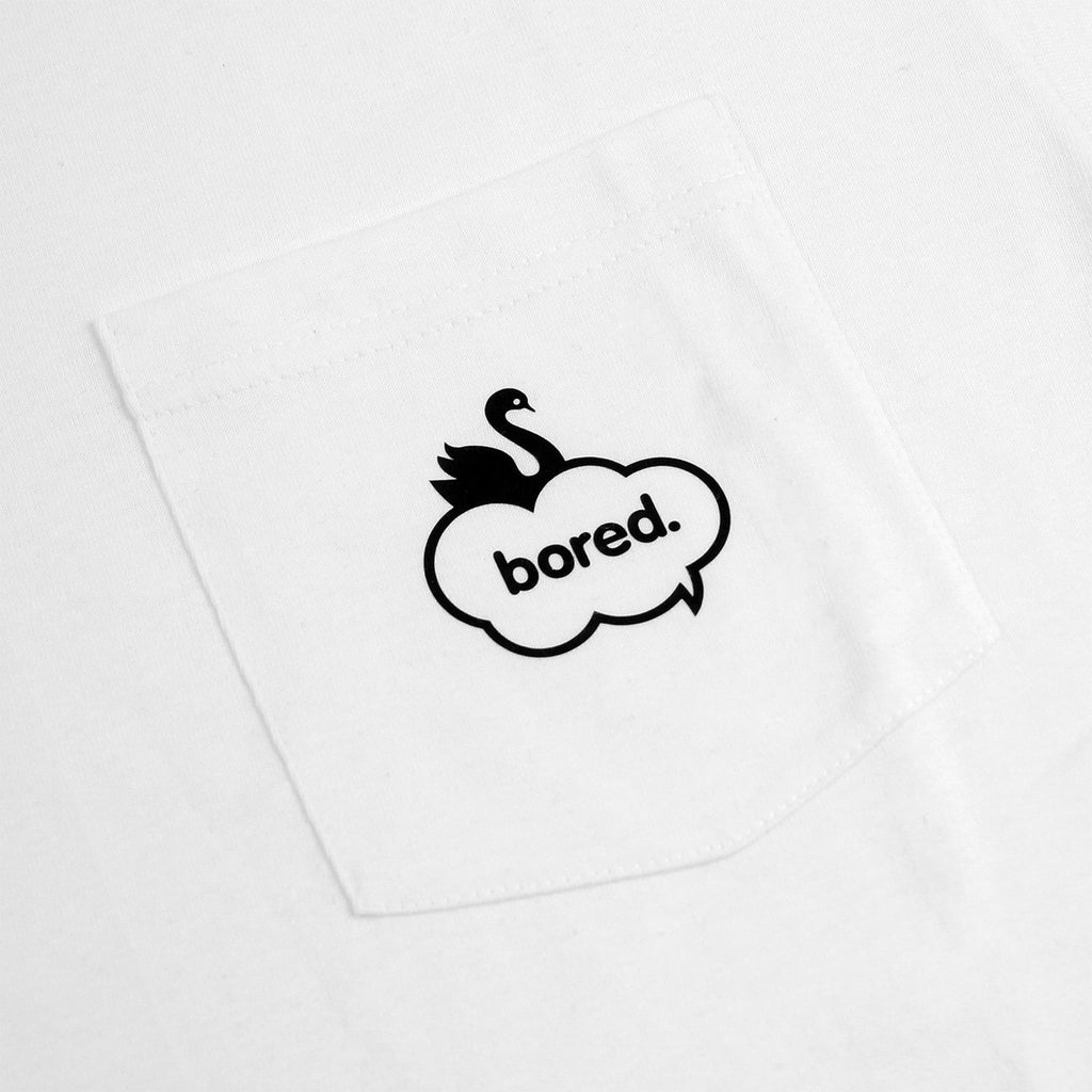 Bored of Southsea Swan Pocket T Shirt in White - Pocket