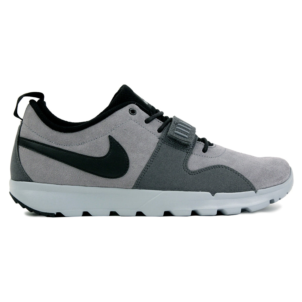 Nike SB Trainerendor L Shoes in Cool Grey / Black / Dark Grey / Wolf Grey