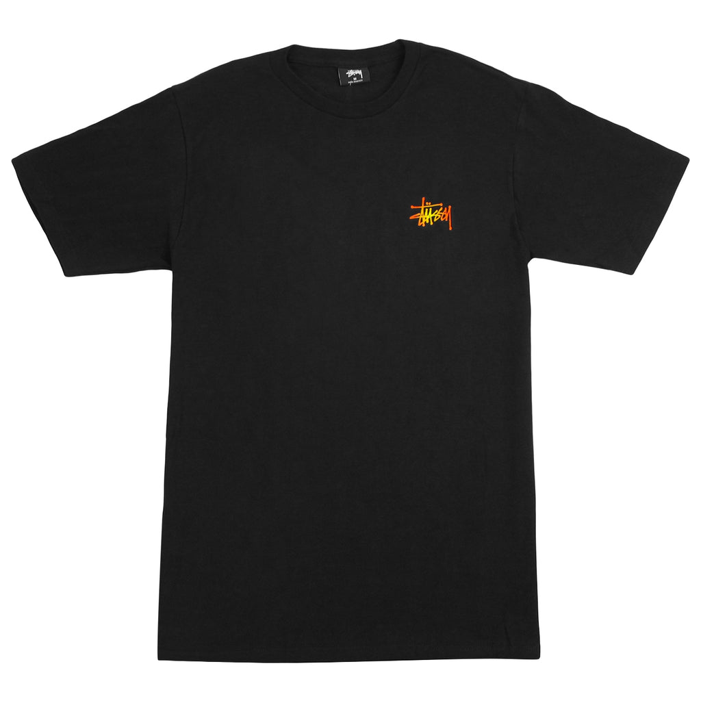 Stussy Fireball T Shirt in Black - Front