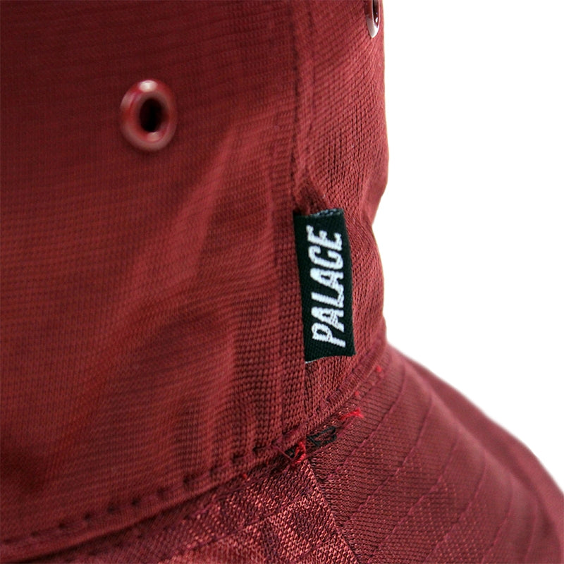 Palace Smiler Bucket Hat in Cordovan - Label