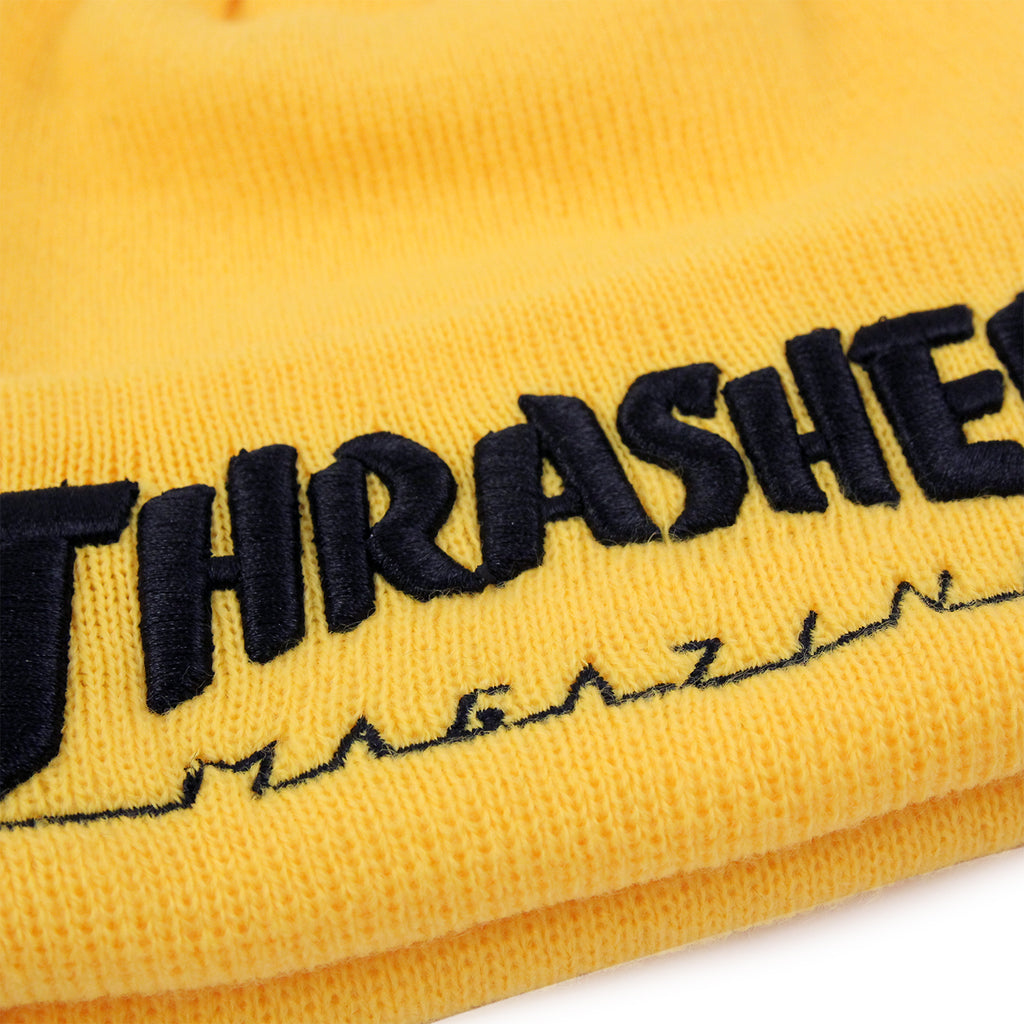 b351712fd76 Thrasher Embroidered Logo Beanie in Yellow   Black - Embroidery