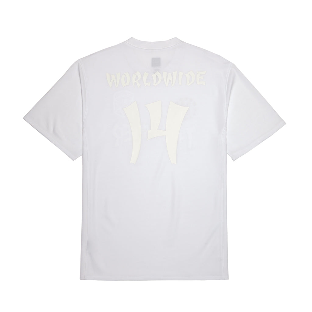 HUF x Thrasher Asia Tour Soccer Jersey 2.0 in White - Back