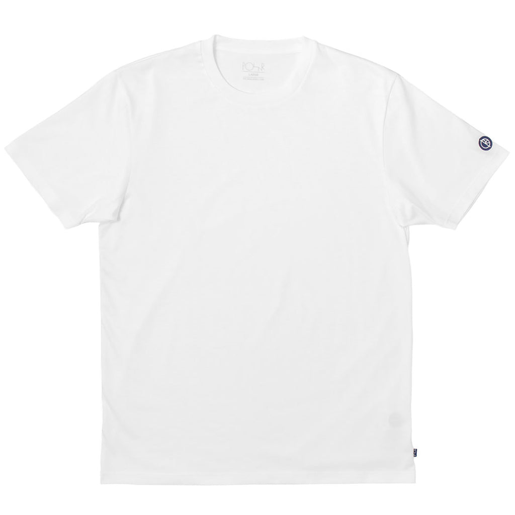 Polar Skate Co Patch T Shirt in White / Navy