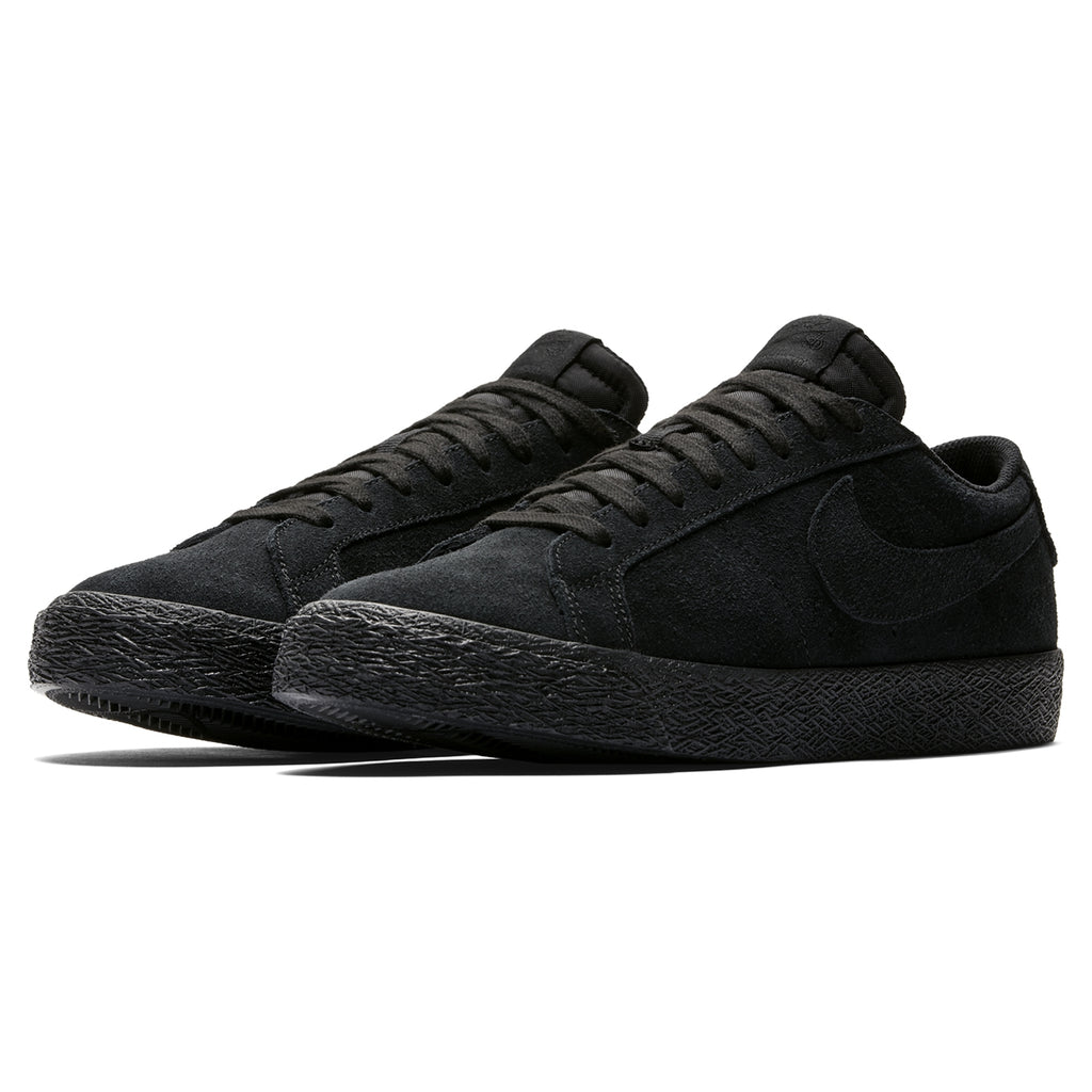 Nike SB Zoom Blazer Low Shoes in Black / Black - Gunsmoke - Pair