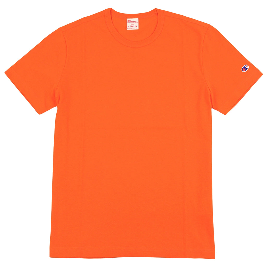 Champion Reverse Weave Classic T Shirt in Bright Orange