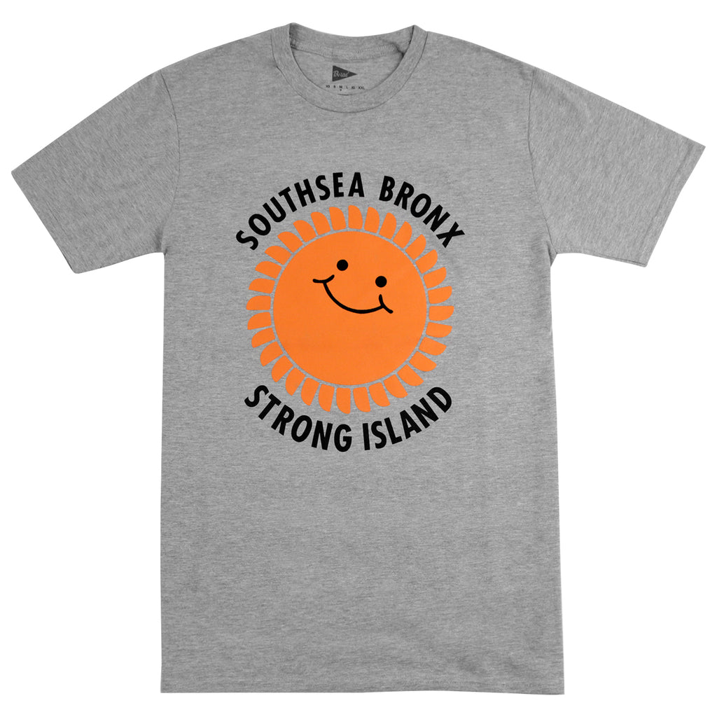 Southsea Bronx Strong Island T Shirt in Heather Grey