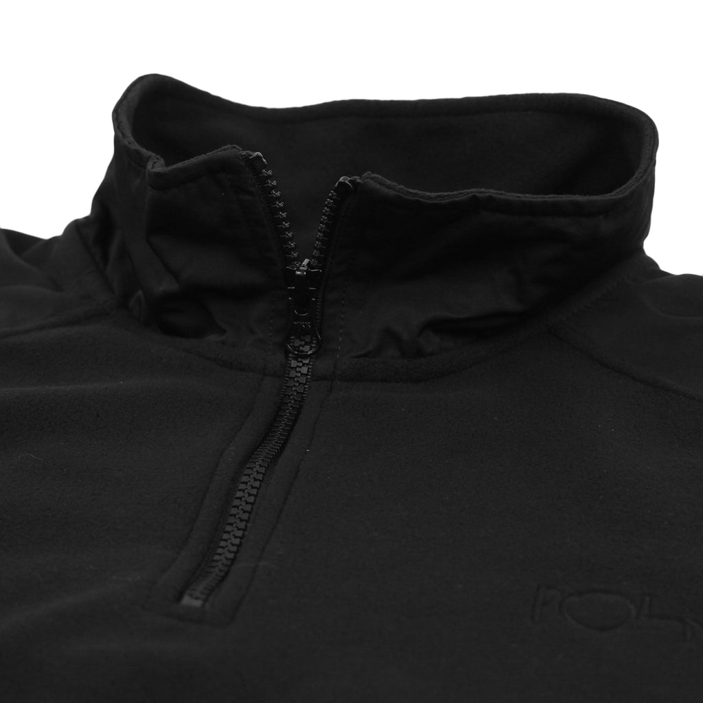 Polar Skate Co Light Fleece Pullover in Black - Collar
