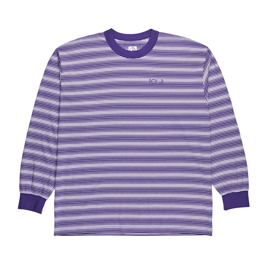 Polar Skate Co Gradient L/S T Shirt in Deep Purple / White