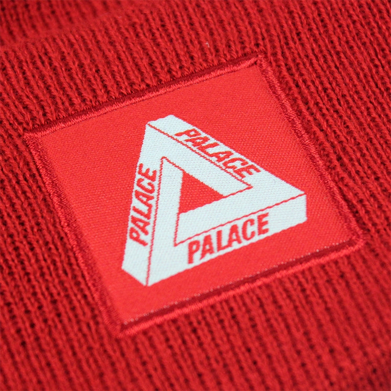 Palace Tri Ferg Beanie in Red - Detail