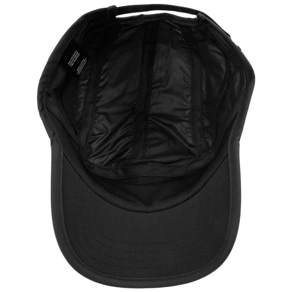 Palace Running Cap in Black - Inside
