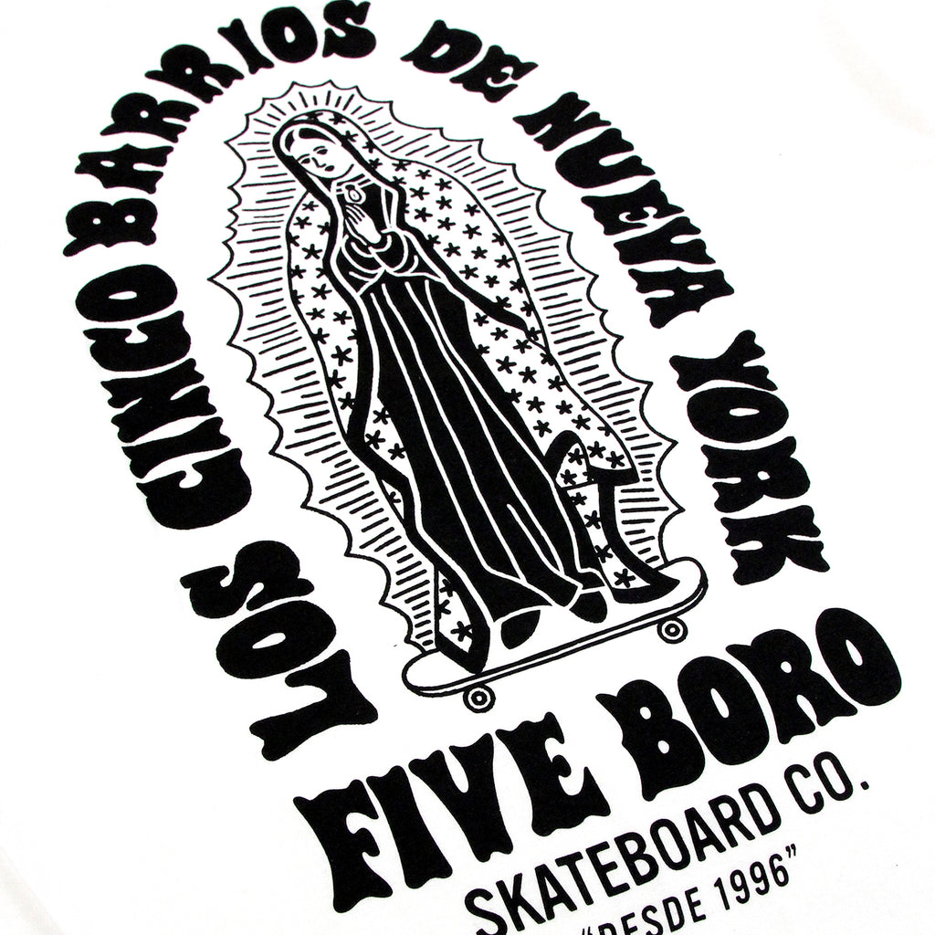5Boro Cinco Barrios II T Shirt in White -