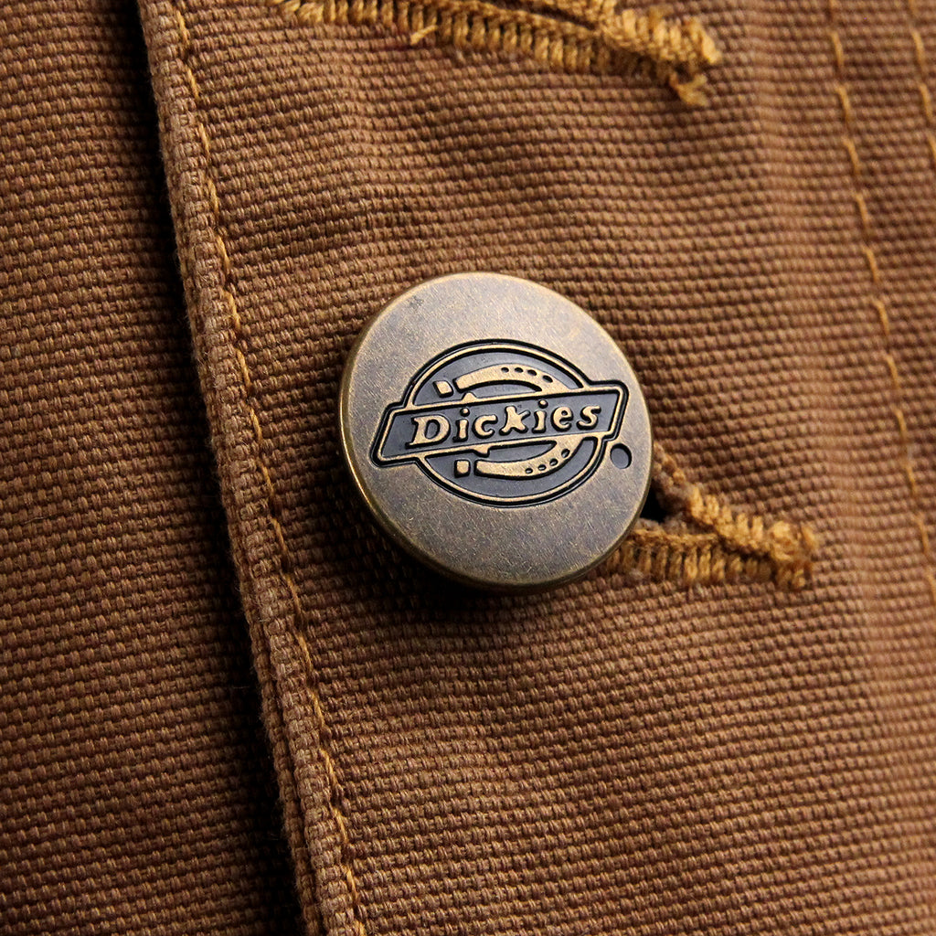 Dickies Thornton Jacket in Brown Duck - Branded buttons