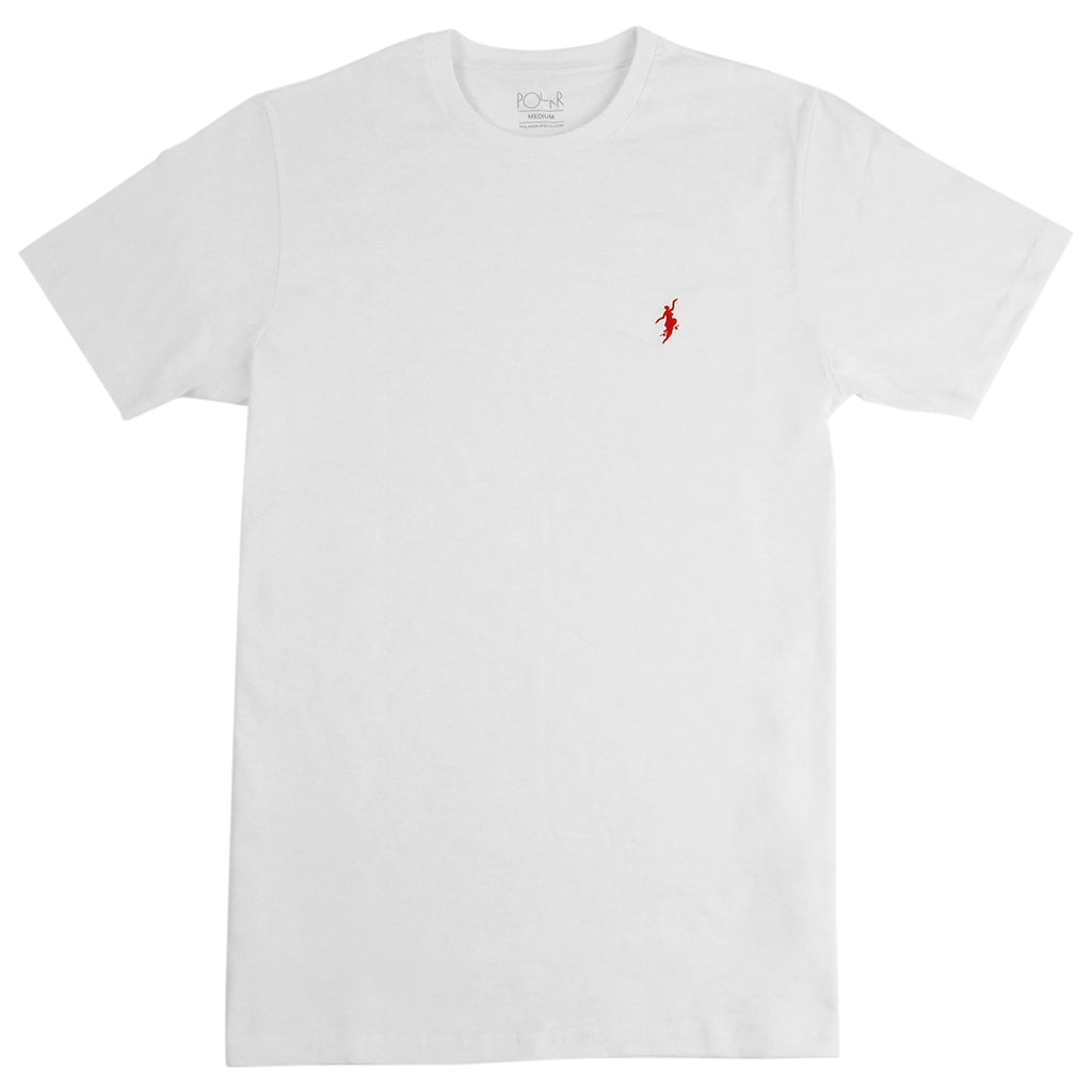 Polar Skate Co No Comply T Shirt in White / Red