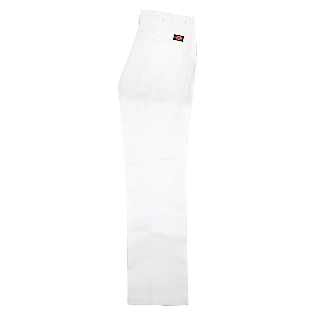 Dickies 873 Slim Straight Work Pant in White - Leg
