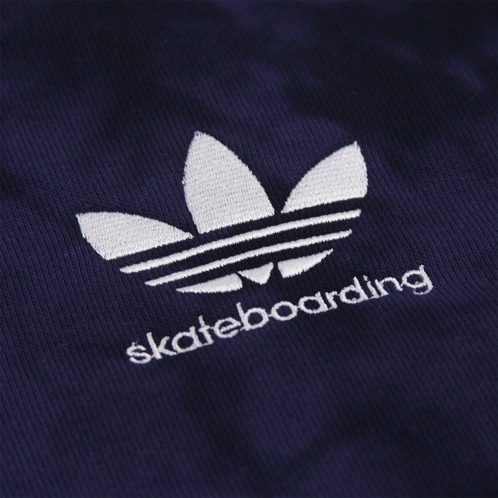 Adidas Skateboarding Clima 2.0 Crystal Wash Hoodie in Night Indigo / Black - Embroidery