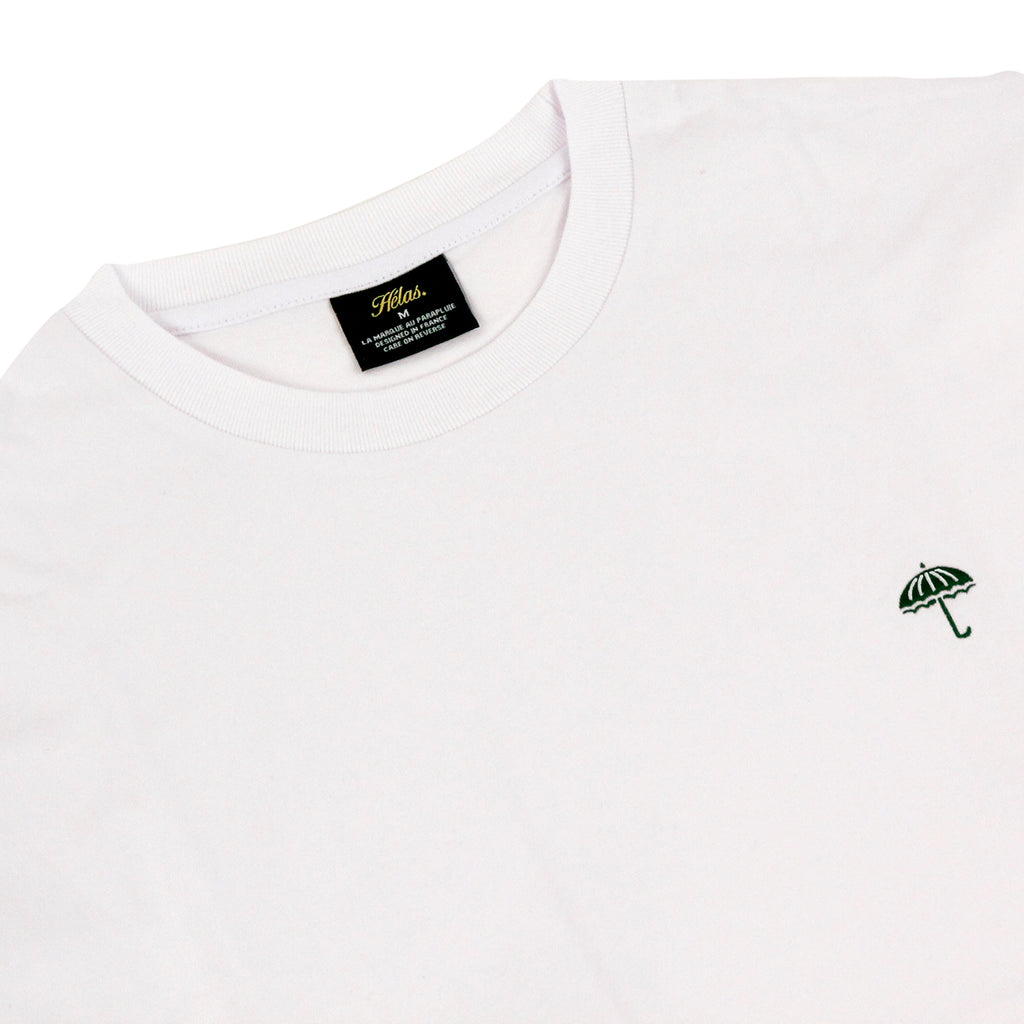 Helas Classic T Shirt in White / Green - Detail