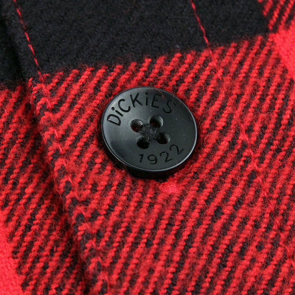 Dickies Sacramento Shirt in Red - Button