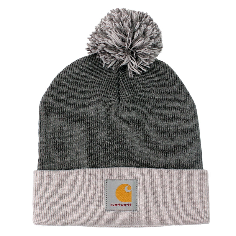 Carhartt Britt Beanie in Dark Grey Heather / Grey Heather