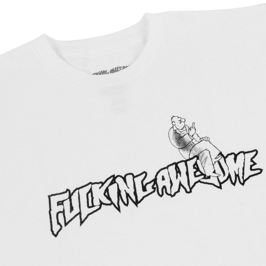 Fucking Awesome FU T Shirt in White - Detail