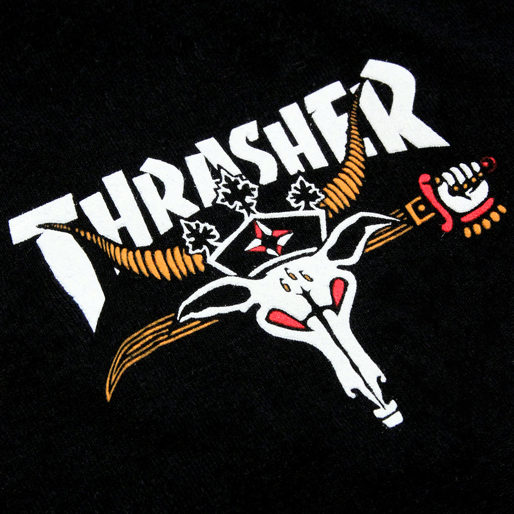 Thrasher King Of Diamonds L/S T Shirt in Black - Print