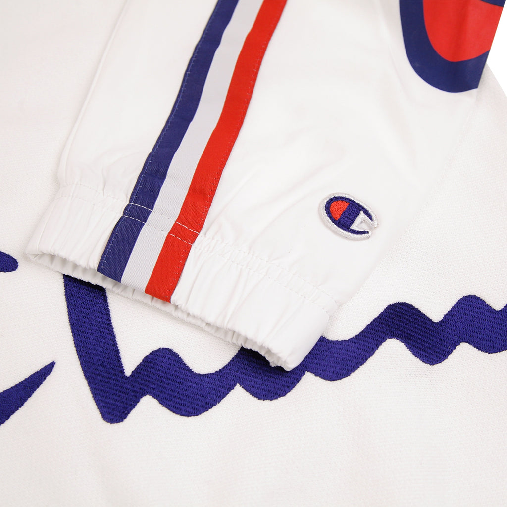 Champion Reverse Weave Training Crew Sweatshirt in White - Cuff