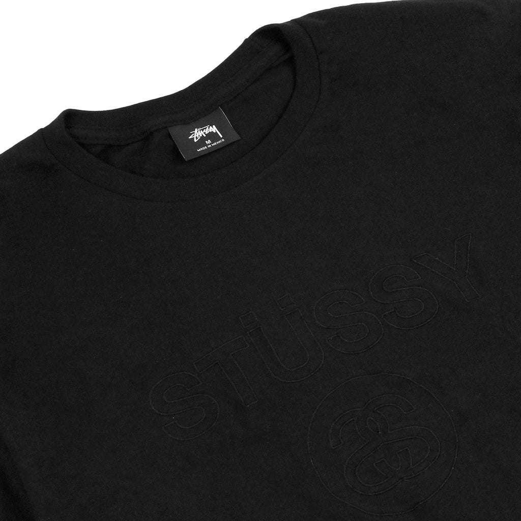 Stussy Link Emb. T Shirt in Black - Detail