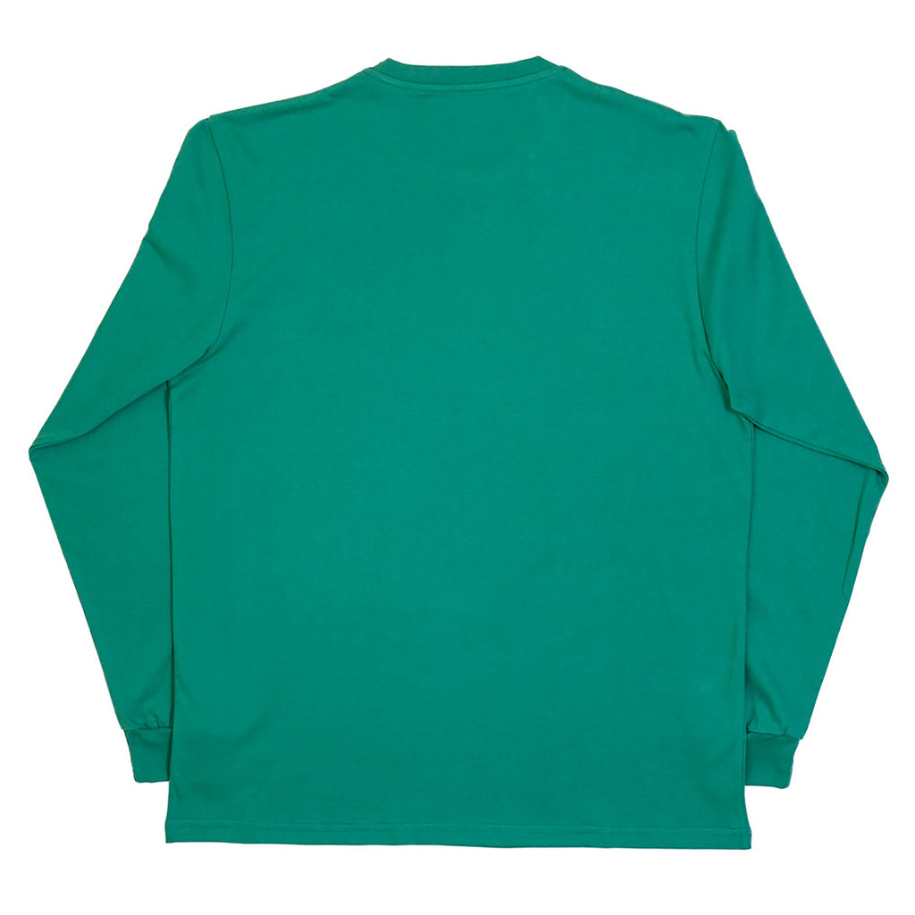 Polar Skate Co No Comply L/S T Shirt in Sports Green / Blue - Back
