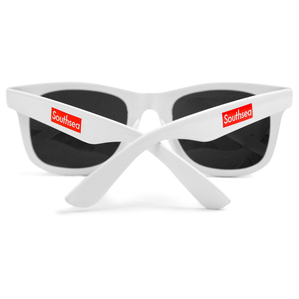 "Bored of Southsea ""Southsea"" Wayfarer Sunglasses in White - Arms"