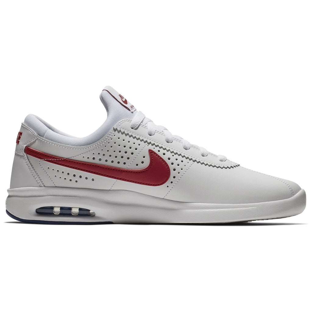Nike SB Air Max Bruin Vapor Shoes in White / Gym-Red - Game Royal