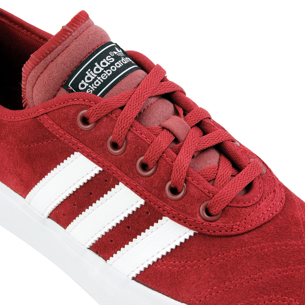 Adidas Skateboarding Adi Ease Premiere Shoes - Collegiate Burgundy / White / Core Black - Lace