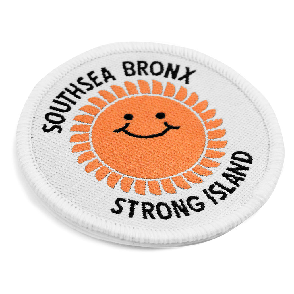 Southsea Bronx Strong Island Patch in White - Detail
