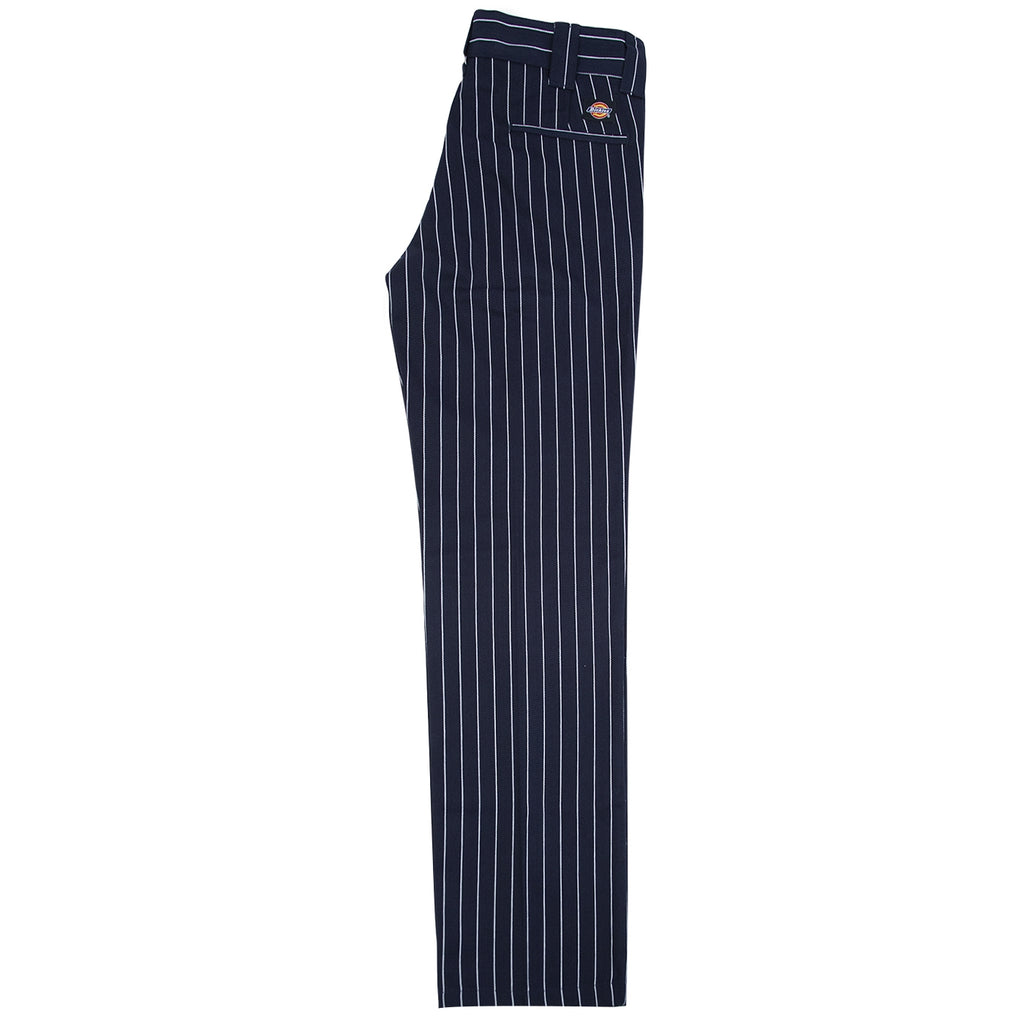 Dickies 873 Slim Straight Work Pant in Stripe / Dark Blue - Leg