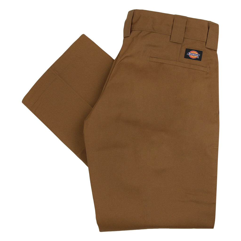 Dickies 873 Slim Straight Work Pant in Brown Duck