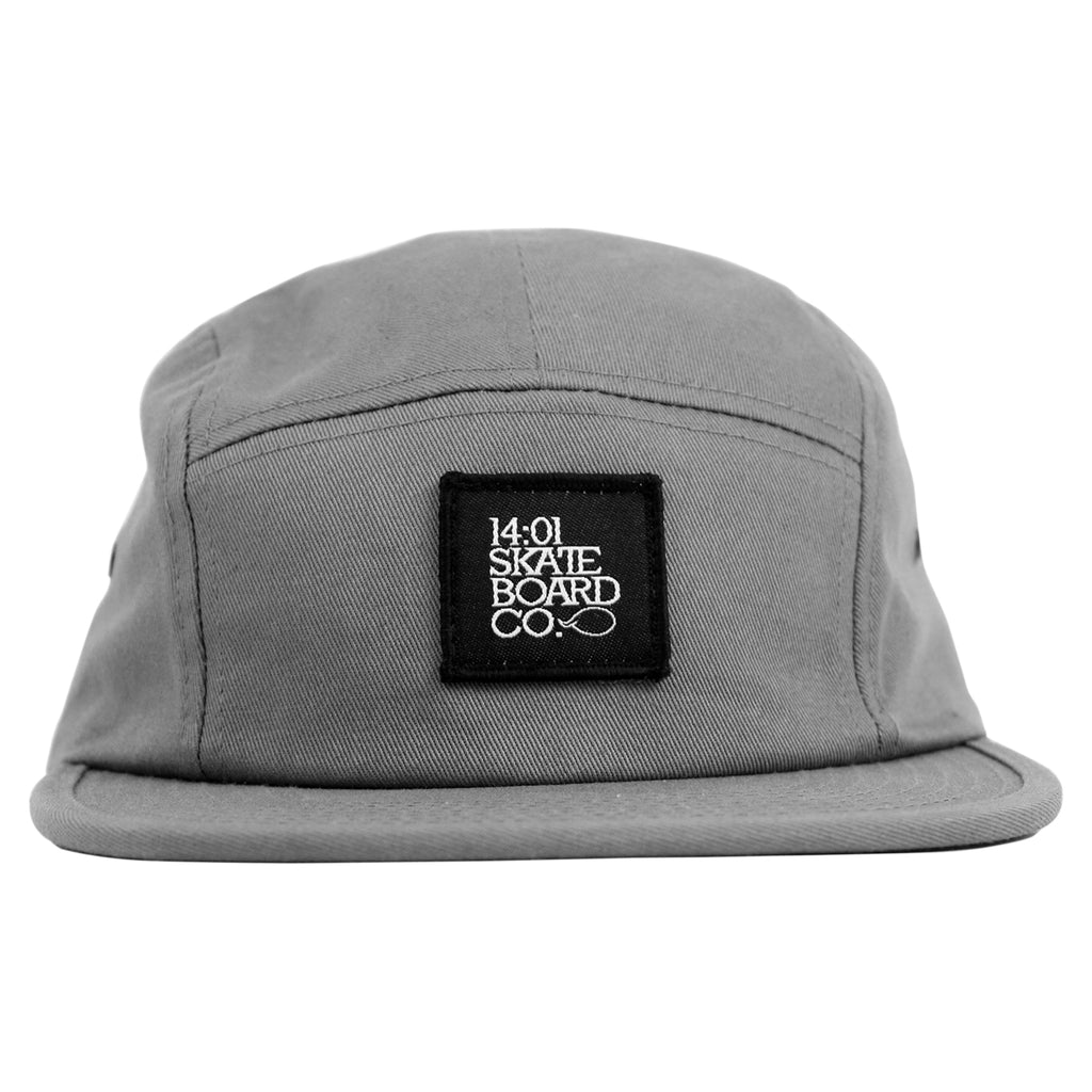 14:01 Skateboard Co BACK2BASICS 5 Panel Cap in Grey - Front
