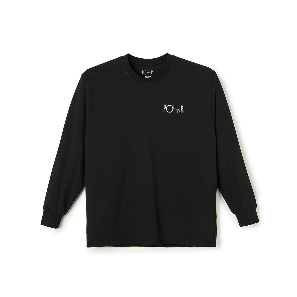 Polar Skate Co L/S ACAB Fill Logo T Shirt in Black - Front