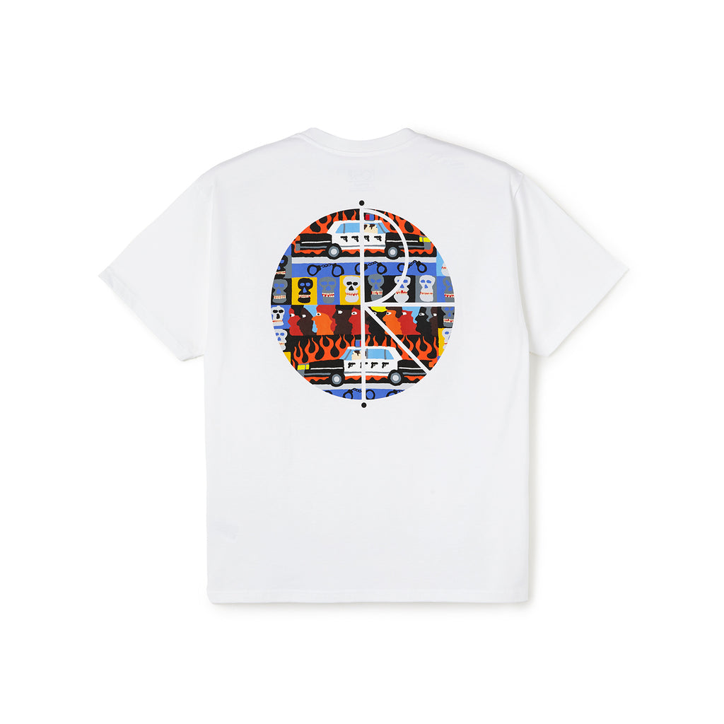 Polar Skate Co ACAB Fill Logo T Shirt in White