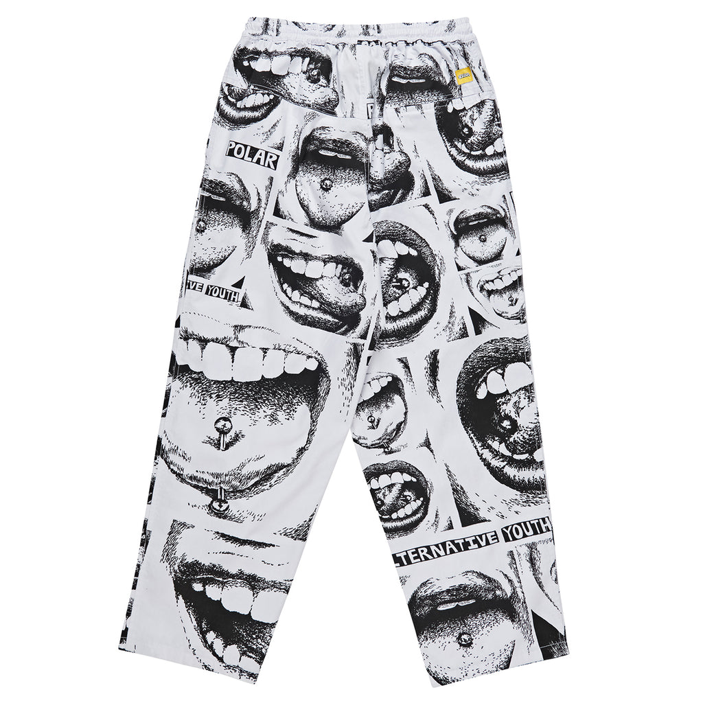 Polar Skate Co x Iggy NYC Alternative Youth Surf Pants in White