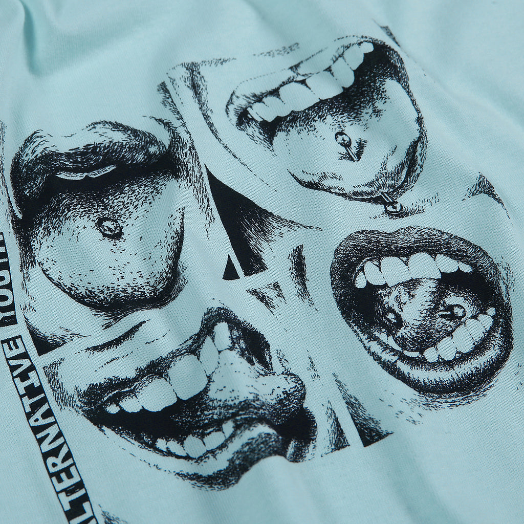 Polar Skate Co x Iggy NYC Alternative Youth T Shirt in Mint - Detail