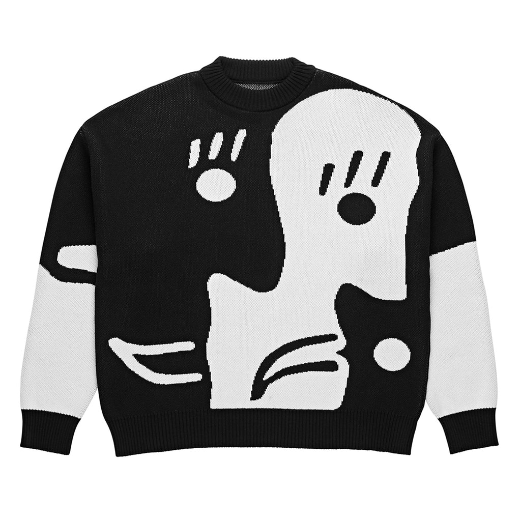 Polar Skate Co Alv Knit Sweater in Black / White