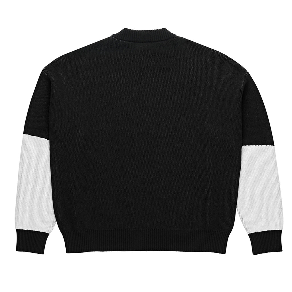 Polar Skate Co Alv Knit Sweater in Black / White - Back Print