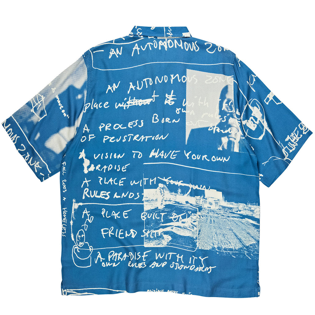 Polar Skate Co Strongest Notes Art Shirt in Blue - Back