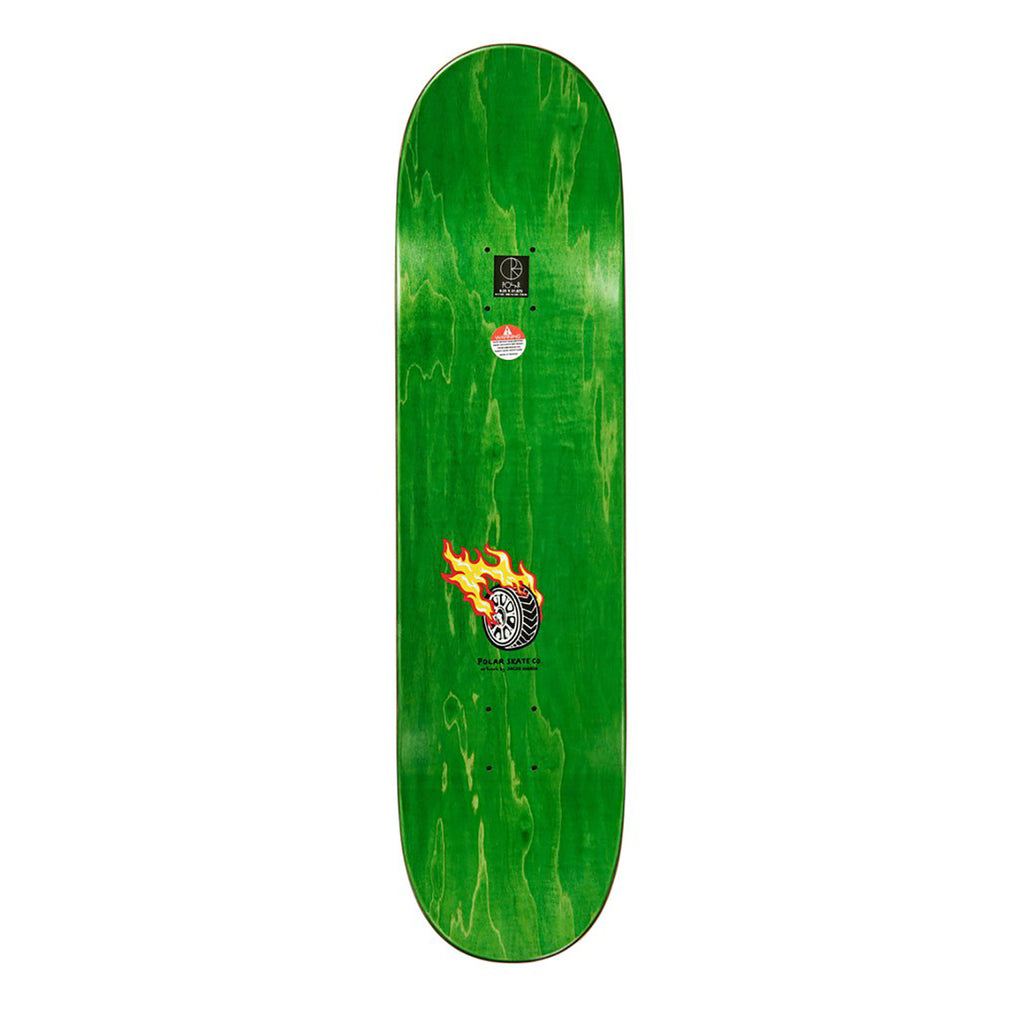 "Polar Skate Co Aaron Herrington Reptilian Racer Skateboard Deck in 8.25"" - Top"