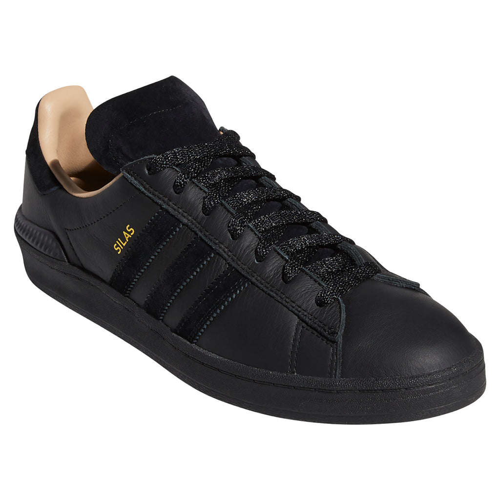 Adidas Silas Campus ADV Shoes in Core Black / Core Black / St Pale Nude - Detail