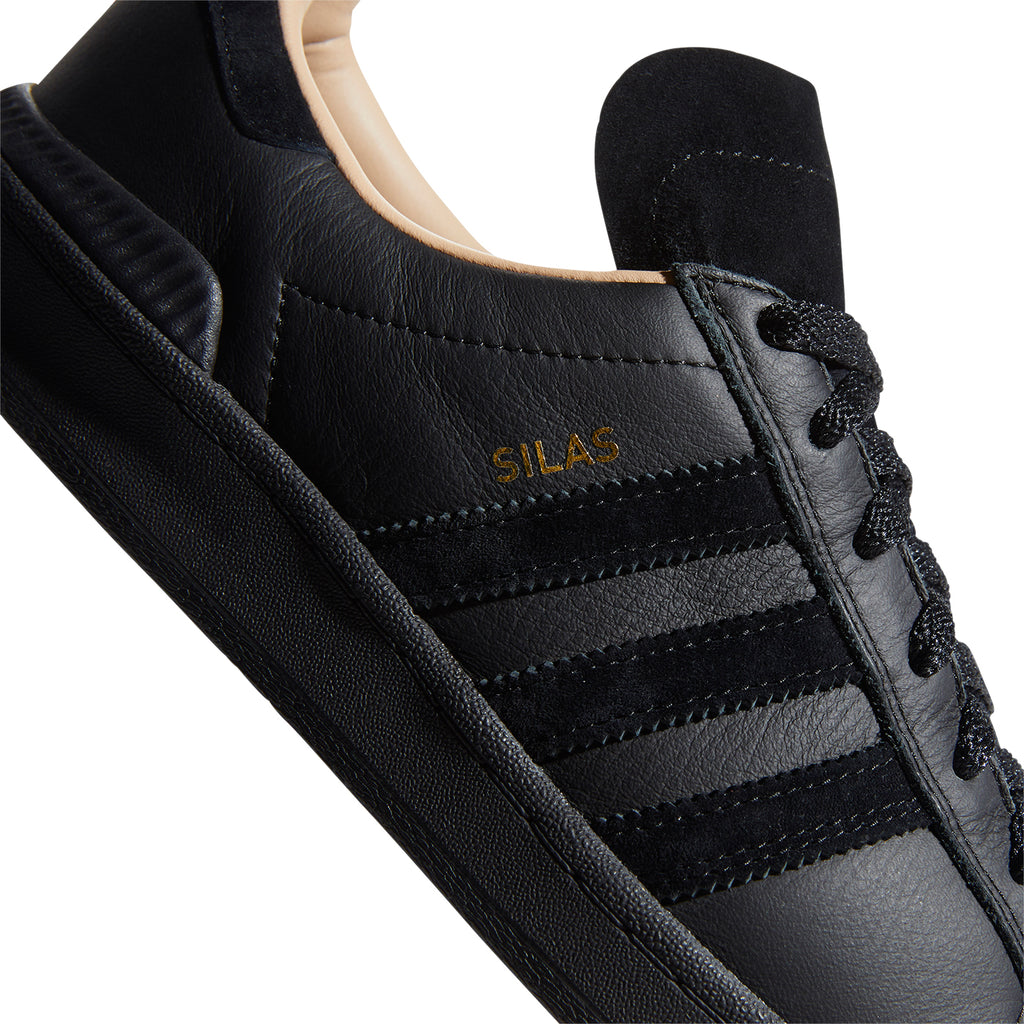 Adidas Silas Campus ADV Shoes in Core Black / Core Black / St Pale Nude - Detail 2