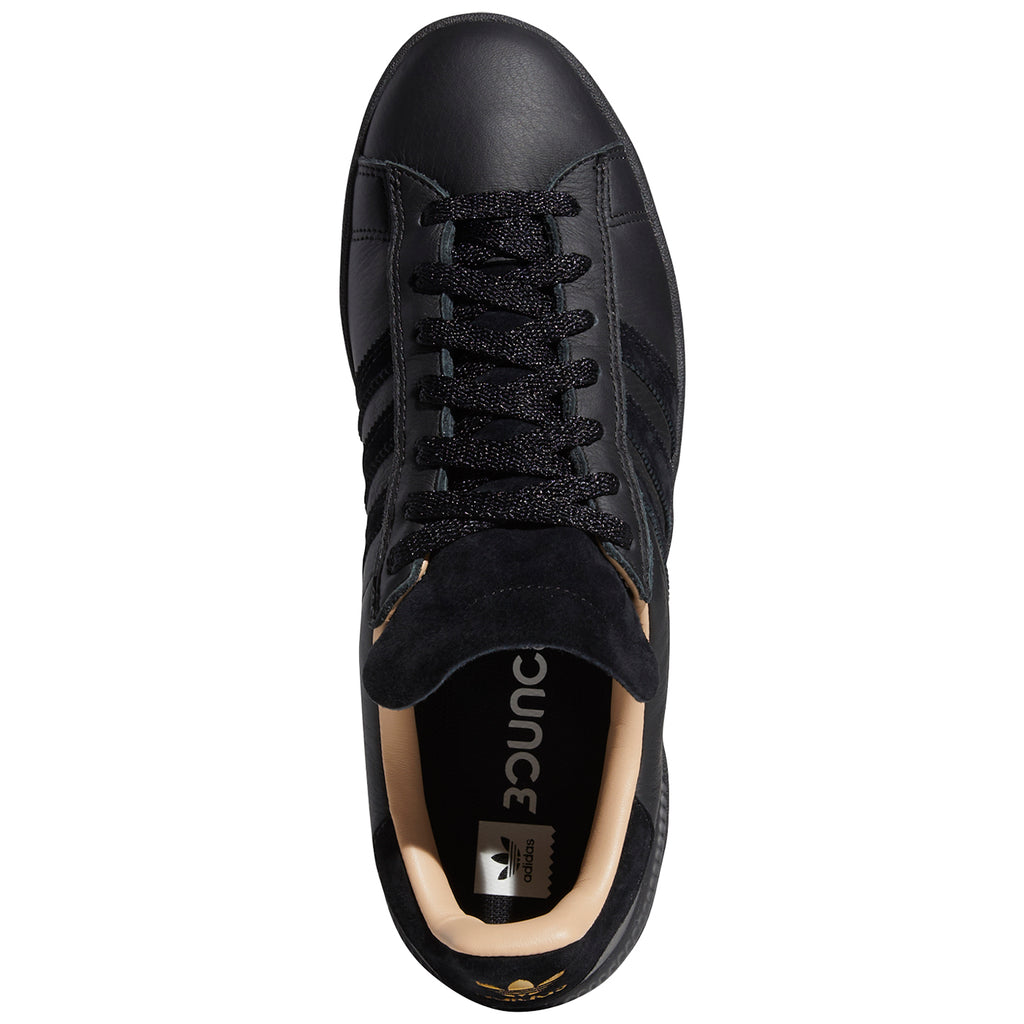 Adidas Silas Campus ADV Shoes in Core Black / Core Black / St Pale Nude - Top