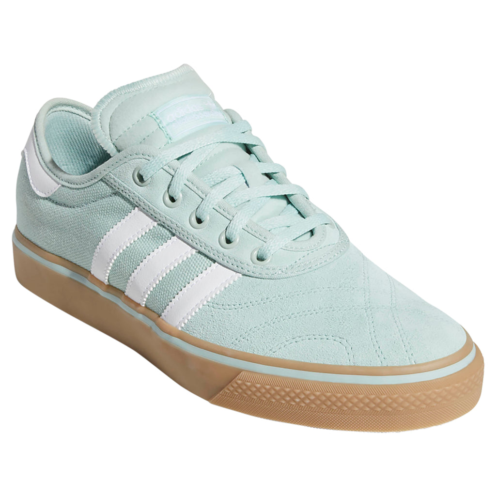 Adidas Adi-Ease Premiere Shoes in Ash Green / Footwear White / Gum4 - Side 1
