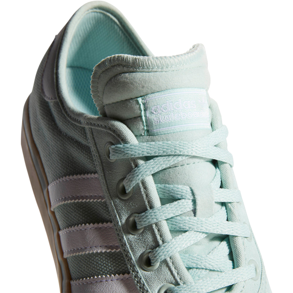 Adidas Adi-Ease Premiere Shoes in Ash Green / Footwear White / Gum4 - Laces