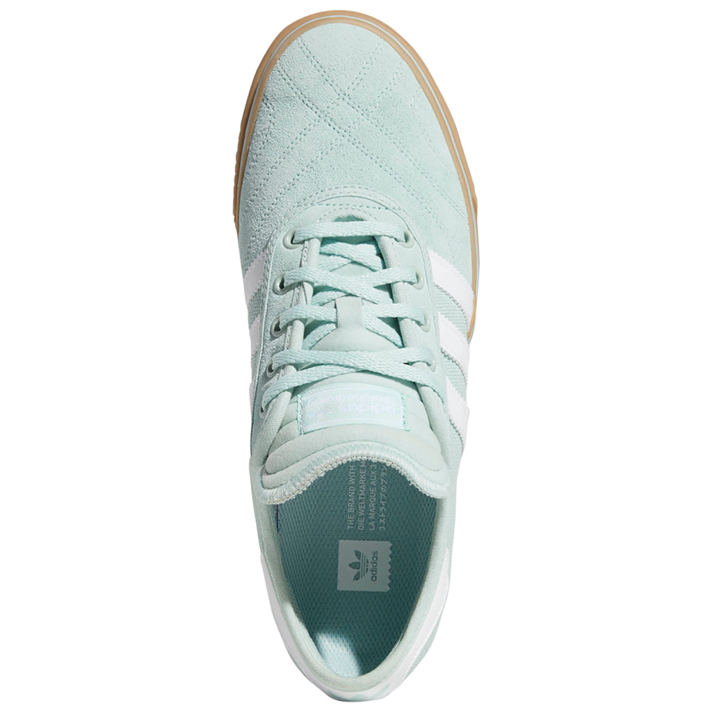 Adidas Adi-Ease Premiere Shoes in Ash Green / Footwear White / Gum4 - Inside
