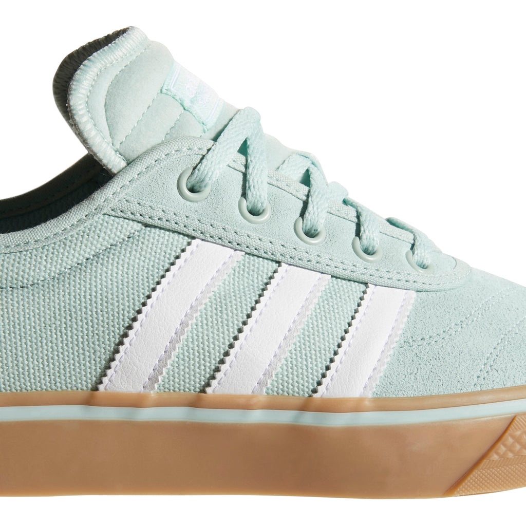 Adidas Adi-Ease Premiere Shoes in Ash Green / Footwear White / Gum4 - Stripes